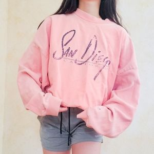 Pink San diego crewneck